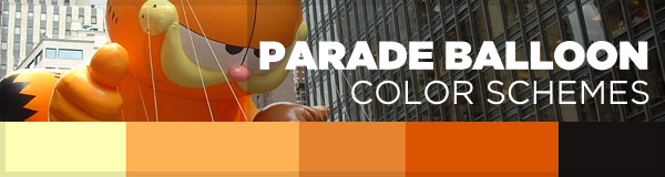 Color Scheme Inspiration – Giant Thanksgiving Parade Balloons
